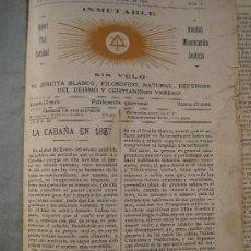 Libros de segunda mano: 1898.INMUTABLE SIN VELO. EL JESUITA BLANCO, FILOSOFICO, NATURAL, DEFENSOR DEL DEISMO Y CRISTIANISMO. Lote 171226589