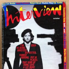 Libros de segunda mano: ENVÍO 12€. ANDY WARHOL'S INTERVIEW MAGAZINE OCTOBER 1991. Lote 30825860
