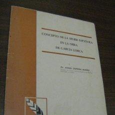 Libros de segunda mano: CONCEPTO DE LA MUJER ESPAÑOLA EN LA OBRA DE GARCIA LORCA - SOPENA IBAÑEZ - 1966. Lote 30952525