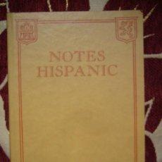Libros de segunda mano: NOTES HISPANIC 1.942.. Lote 31052569