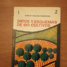 Libros de segunda mano: LIBRO , DATOS Y ESQUEMAS DE 60 CULTIVOS - JOS Mº ANGLES FARRERONS. Lote 31077710