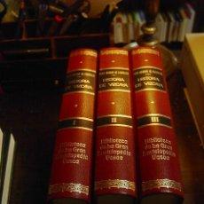 Libros de segunda mano: JOSE RAMON ITURRIZA, HISTORIA DE VIZCAYA, 3 TOMOS, GRAN ENCICLOPEDIA VASCA, 1981. Lote 31087929