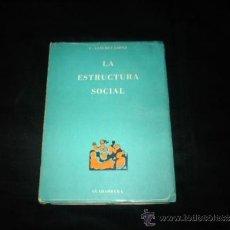 Libros de segunda mano: LA ESTRUCTURA SOCIAL-F.SANCHEZ LOPEZ-GUADARRAMA-1968. Lote 31139988