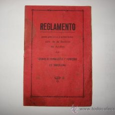 Libros de segunda mano: REGLAMENTO PARA EL AUXILIO DEL GREMIO DE CERRAJEROS Y HERREROS DE BARCELONA 1927. Lote 31194684