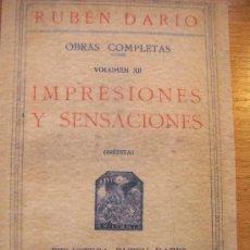Libros de segunda mano: RUBÉN DARÍO - IMPRESIONES Y SENSACIONES. Lote 31284722