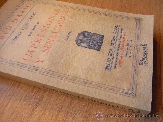 Libros de segunda mano: RUBÉN DARÍO - IMPRESIONES Y SENSACIONES - Foto 2 - 31284722