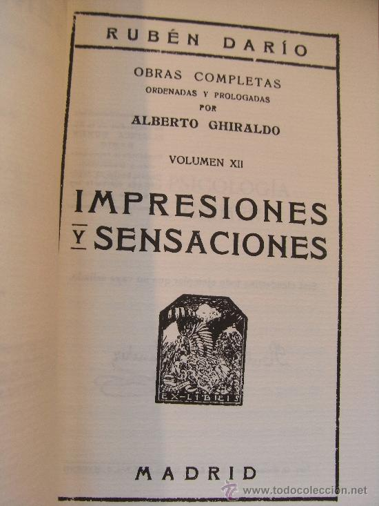 Libros de segunda mano: RUBÉN DARÍO - IMPRESIONES Y SENSACIONES - Foto 4 - 31284722