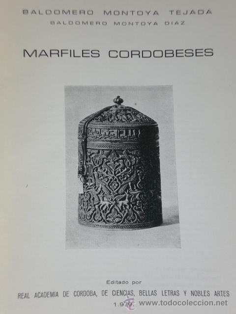 MARFILES CORDOBESES. (Libros de Segunda Mano - Bellas artes, ocio y coleccionismo - Otros)