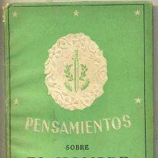 Libros de segunda mano: PENSAMIENTOS SOBRE EL HOMBRE (LA GACELA, 1942) MINIATURA 8X11. Lote 31388415