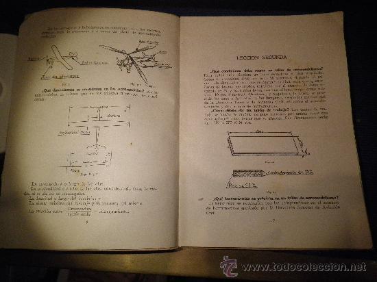 Libros de segunda mano: INSTRUCCIÓN AERONAUTICA PRELIMINAR, NOCIONES DE AEROMODELISMO. - Foto 2 - 31603340