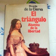 Libros de segunda mano: EL TRIÁNGULO ALUMNA DE LA LIBERTAD -LIBRO DE RICARDO DE LA CIERVA-1ª EDICIÓN 1988 PLANETA. Lote 31905448