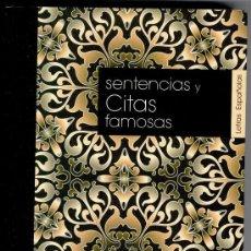 Libros de segunda mano: SENTENCIAS Y CITAS FAMOSAS, SAMIR LAÂBI, GASTOS DE ENVÍO GRATIS. Lote 31999952