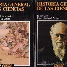 Libros de segunda mano: HISTORIA GENERAL DE LAS CIENCIAS , LOTE DE 16 LIBROS /EDITA : ORBIS. Lote 32002946
