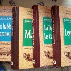 Libros de segunda mano: GRANDES AUTORES LITERATURA UNIVERSAL-NIETZSCHE, BECQUER, DUMAS, ISAACS, 4 LIBROS 1994. Lote 32032713