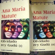 Libros de segunda mano: OLVIDADO REY GUDÚ 1 Y 2. LIBRO DE ANA MARÍA MATUTE, NARRATIVA ESPAÑOLA ACTUAL PLANETA 1999. Lote 32032831
