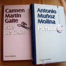 Libros de segunda mano: PLENILUNIO DE ANTONIO MUÑOZ MOLINA-IRSE DE CASA DE CARMEN MARTÍN GAITE. 1999. Lote 32131105