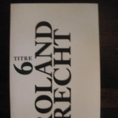 Libros de segunda mano: LA LETTRE DE HUMBOLDT. DU JARDIN PAYSAGER AU DAGUERRÉOTYPE. Lote 32424286