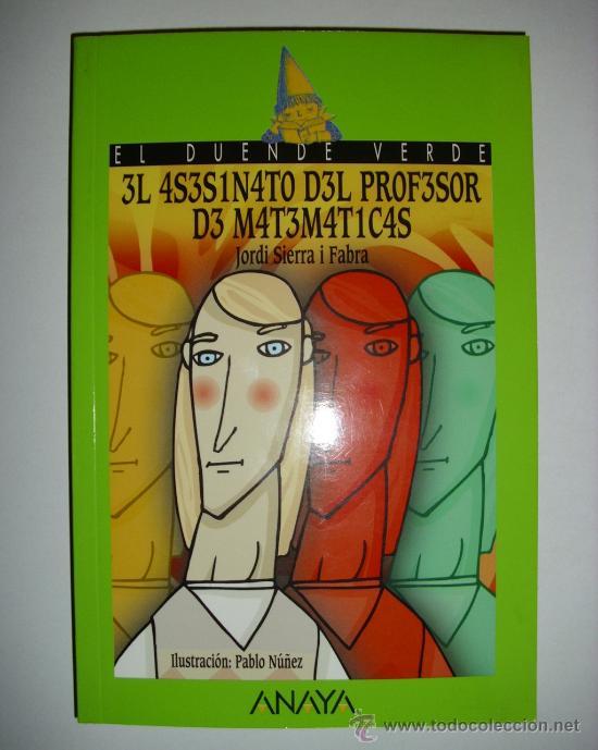 Libro el asesinato del profesor de matematicas comprar en todocoleccion 53942414 - Libreria segunda mano online ...
