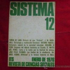 Libros de segunda mano: LIBRO SISTEMA Nº 12 ENERO 1976 REVISTA DE CIENCIAS SOCIALES L-949. Lote 32449265