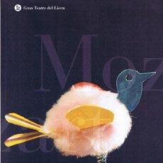 Libros de segunda mano: GRAN TEATRE DEL LICEU- WOLFGANG AMADEUS MOZART-DIE ZAUBERFLÖTE- LA FLAUTA MÀGICA-TEMPORADA 2001-2001. Lote 32584238