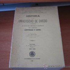 Libros de segunda mano: HISTORIA DE LA UNIVERSIDAD DE OVIEDO Y NOTICIAS DE LOS ESTABLECIMIENTOS DE ENSEÑANZA.FERMIN CANELLA . Lote 32688708