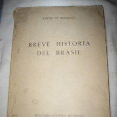 Libros de segunda mano: BREVE HISTORIA DEL BRASIL. Lote 34079972