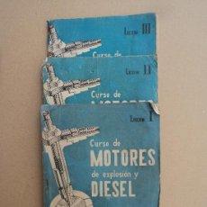Libros de segunda mano: CURSO DE MOTORES DE EXPLOSIÓN. Lote 32786252
