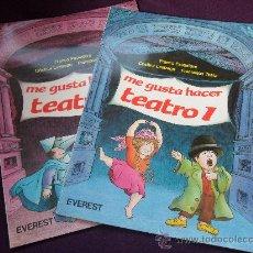 Libros de segunda mano: ME GUSTA HACER TEATRO 1 Y 2. LOTE DE 2 LIBROS. EVEREST 1988. RUSTICA. 22 X 30 CMS. . Lote 32797503