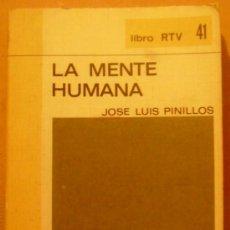 Libros de segunda mano: LA MENTE HUMANA. LIBRO RTV, 41. BIBLIOTECA BÁSICA SALVAT. MADRID, 1970.. Lote 32912526