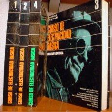 Libros de segunda mano: CURSO BASICO DE ELECTRICIDAD-ENSEÑANZA PROGRAMADA-4 TOMOS.. Lote 32969425