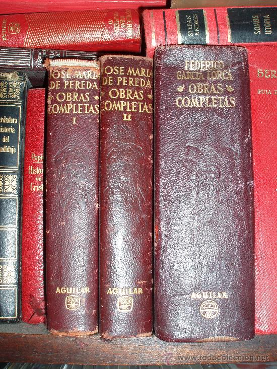 OBRAS COMPLETAS FEDERICO GARCÍA LORCA Y JOSE MARIA DE PEREDA AGUILAR (Libros de Segunda Mano (posteriores a 1936) - Literatura - Otros)