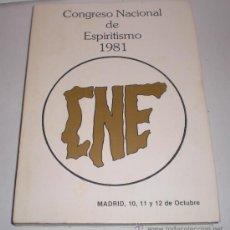 Libros de segunda mano: CONGRESO NACIONAL DE ESPIRITISMO - 1981. Lote 33651005