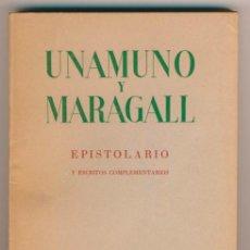 Libros de segunda mano: UNAMUNO Y MARAGALL. EPISTOLARIO.. Lote 33664466
