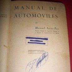 Libros de segunda mano: ARIAS PAZ, MANUEL - MANUAL DE AUTOMÓVILES. Lote 33873057