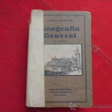 Livros em segunda mão: LIBRO GEOGRAFIA EN GENERAL FAUSTINO PALUZIE MIR 3ER GRADO 1930 BARCELONA L-2293. Lote 34091303