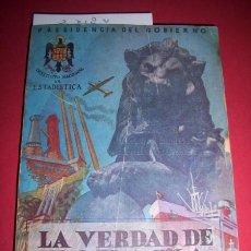 Libros de segunda mano: ESPAÑA. PRESIDENCIA DEL GOBIERNO. INSTITUTO NACIONAL DE ESTADÍSTICA - LA VERDAD DE ESPAÑA : DATOS.... Lote 34122105