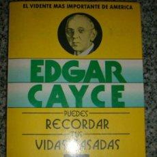 Libros de segunda mano: EDGAR CAYCE - PUEDES RECORDAR TUS VIDAS PASADAS, POR R. SMITH - MIRACH - ESPAÑA - 1995. Lote 34174647