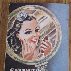 Libros de segunda mano: SECRETOS DE HIGIENE Y BELLEZA .. RECETARIO PRACTICO DE HIGIENE Y DE TOCADOR REVISADO Y PUESTO AL DÍA. Lote 34285118