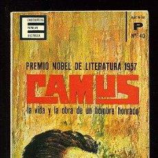 Libros de segunda mano: CAMUS. LA VIDA Y LA OBRA DE UN HOMBRE HONRADO -JEAN BEART. Lote 34316371