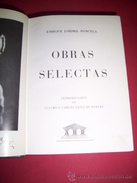 JARDIEL PONCELA, ENRIQUE - OBRAS SELECTAS (Libros de Segunda Mano (posteriores a 1936) - Literatura - Otros)