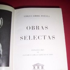 Libros de segunda mano: JARDIEL PONCELA, ENRIQUE - OBRAS SELECTAS. Lote 34331743