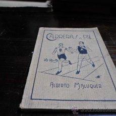 Libros de segunda mano: ALBERTO MALUQUER, CARRERAS A PIE, LOS SPORTS, LIBRERIA SINTES. Lote 34443989