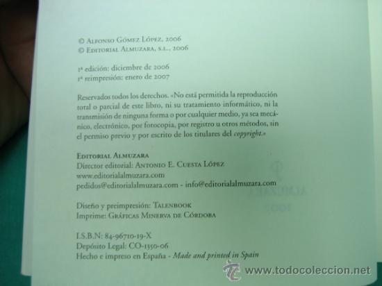Libros de segunda mano: La Cordoba Golfa por Alfonso Gomez Lopez 2007 - Foto 3 - 34812544
