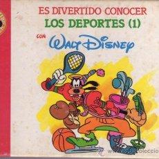 Libros de segunda mano: ES DIVERTIDO CONOCER LOS DEPORTES (1) CON WALT DISNEY NR2 - CLUB INTERNACIONAL DEL LIBRO. Lote 34693559