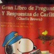 Libros de segunda mano: GRAN LIBRO DE PREGUNTAS Y RESPUESTAS DE CARLITOS (CHARLIE BROWN) Nº 4 (BARCELONA, 1982). Lote 34811952