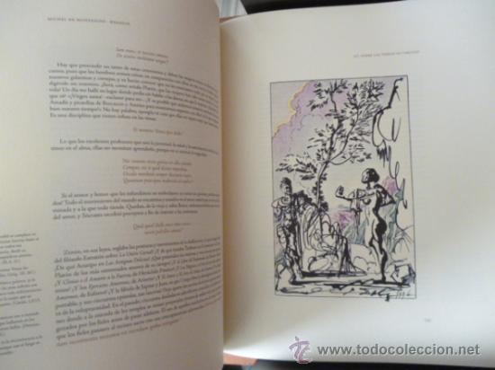 Libros de segunda mano: ENSAYOS DE MICHEL DE MONTAIGNE CON LAMINAS DE SALVADOR DALI. EDICIÓN LIMITADA - Foto 7 - 34467319