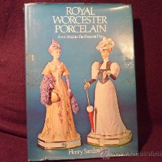 Libros de segunda mano: ROYAL WORCESTER PORCELAIN. FROM 1862 TO THE PRESENT DAY. HENRY SANDON. BARRIE & JENKINS. LONDON. AÑO. Lote 34982275