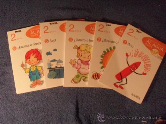 EDUCACION INFANTIL AL AGUA PULPO - 2 AÑOS - 5 LIBROS (FALTA EL Nº3) - ANAYA 2009 (Libros de Segunda Mano - Literatura Infantil y Juvenil - Otros)