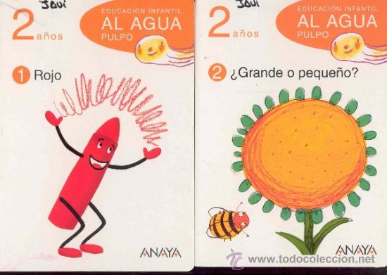 Libros de segunda mano: EDUCACION INFANTIL AL AGUA PULPO - 2 años - 5 LIBROS (falta el nº3) - ANAYA 2009 - Foto 3 - 35013690