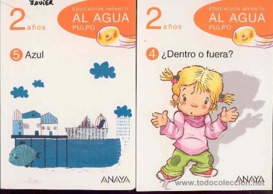 Libros de segunda mano: EDUCACION INFANTIL AL AGUA PULPO - 2 años - 5 LIBROS (falta el nº3) - ANAYA 2009 - Foto 2 - 35013690